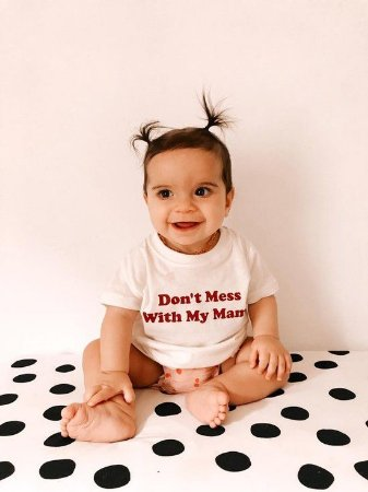 """CAMISETA INFANTIL """"DON'T MESS WITH MY MAMA"""""""
