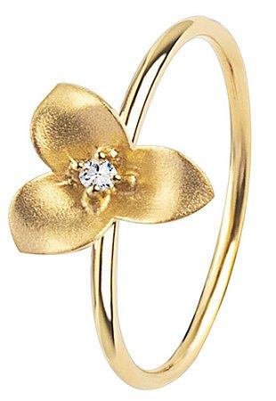 Anel Flor Jasmim Ouro com Brilhante - 18k