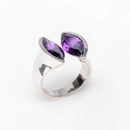 Anel Navete Duo Purple