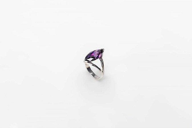 Anel Navete Purple - Prata 925