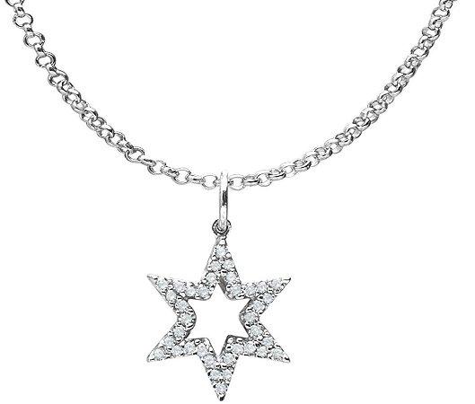 Corrente com Pingente Estrela de Davi | Prata 925