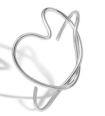 Pulseira Coração -  Prata 925