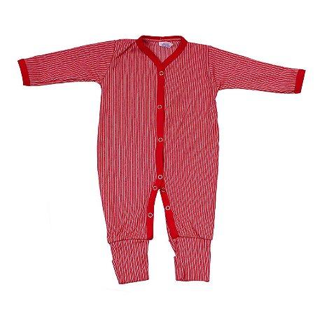 Macacão Canelado  (Vermelho)