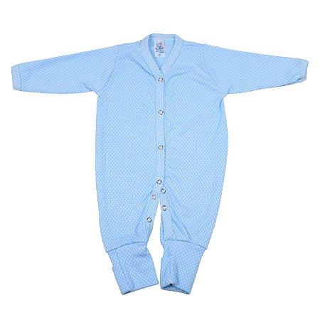 Macacão Canelado (Azul Bebê)