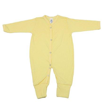 Macacão Canelado (Amarelo)