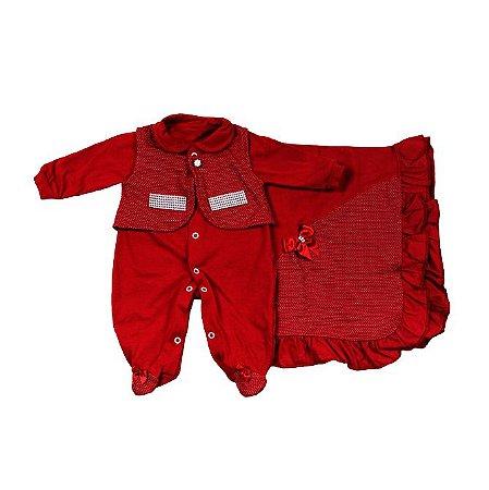 Saida Maternidade K-Baby RN (Vermelha C/ Strass)