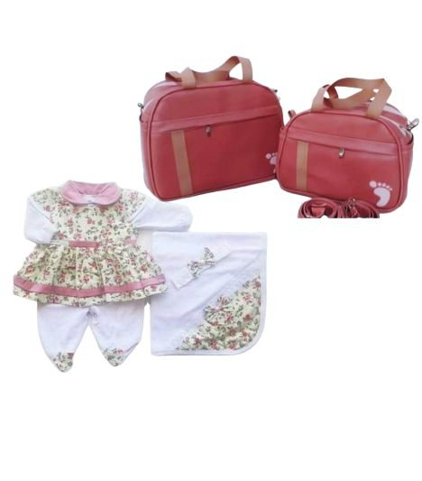 Saída Maternidade Luxo + Kit Bolsa (6pçs)