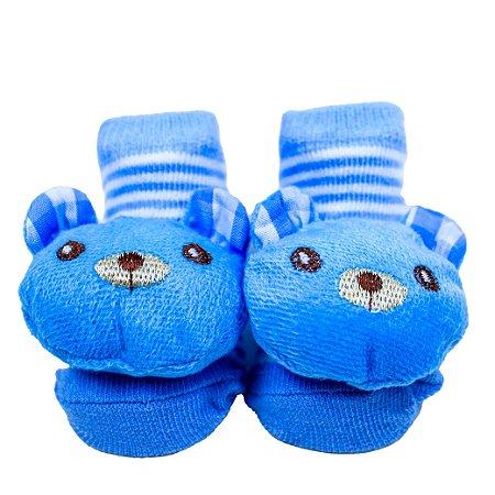 Pantufa Urso Azul  - Tamanho Único