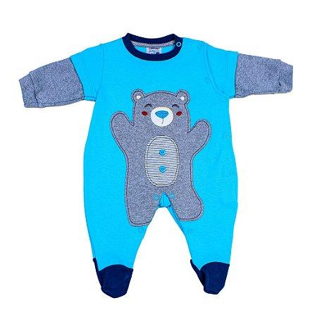 Macacão Urso Azul ( Curioso )