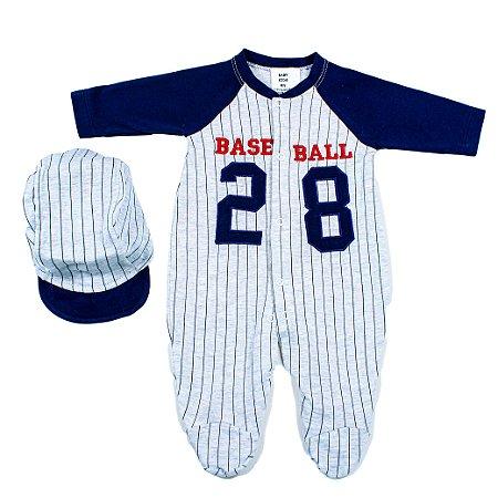 Macacão Malha Fio 30 (Baseball Marinho)