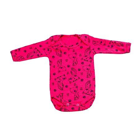 Body Estampado M/L Gatinha Pink (Vitrine)