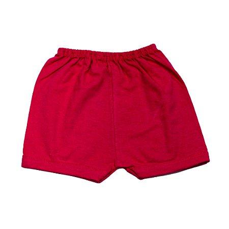 Short Liso Simples (Vermelho)