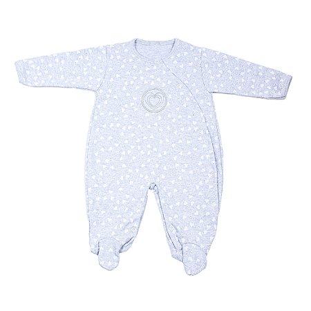Macacão Nilly Baby (Coração Cinza)