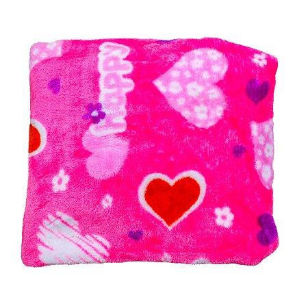 Cobertor Manta Plush (Happy Rosa)