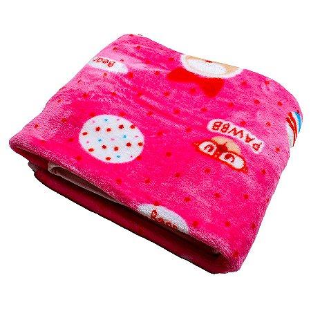 Cobertor Manta Plush (Pawbb Rosa)