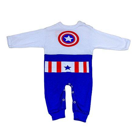 Macacão Personagens (Capitão America)