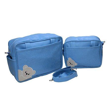 Conj. 2 Bolsas+1 Alça Grande Cedro (Azul Bebê)