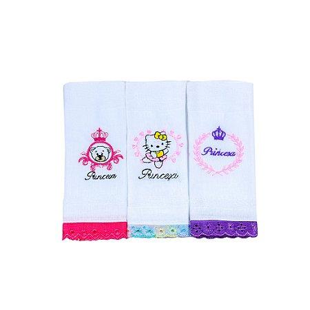 Toalha Boca Barra Piq (Coroa Trigo, Hello Kitty, Princesa)