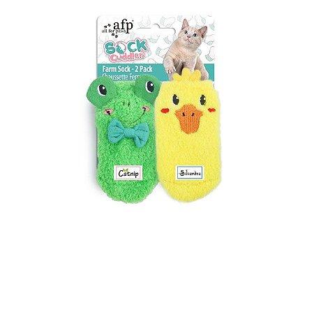 Brinquedo Afp Sapinho e Patinho Para Gatos - Sock Cuddler