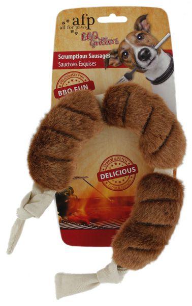 Brinquedo Pelúcia Afp Linguiça Para Cachorro - BBQ