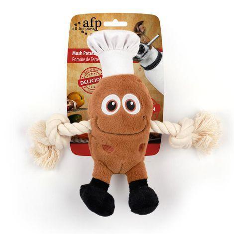 Brinquedo Pelúcia E Corda Afp Cheff Batata Para Cachorro - BBQ