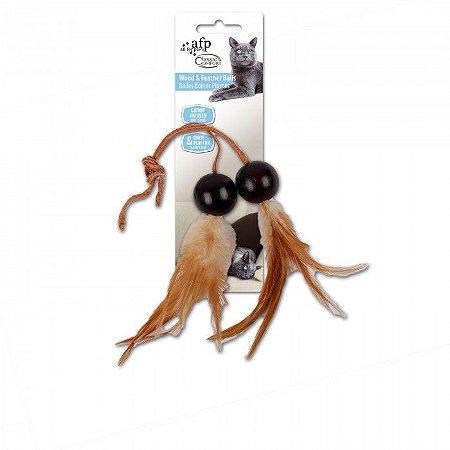 Brinquedo Afp Bolinhas De Madeira Com Peninhas Para Gato - Classic Comfort