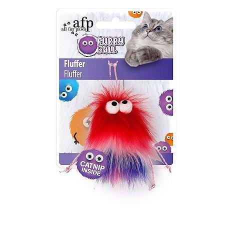 Brinquedo Afp Monstrinho Com Cordões Pink Para Gatos - Furry Ball