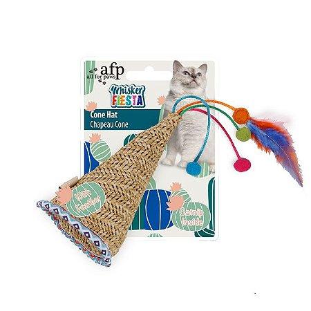 Brinquedo Afp Chapéu Cone Para Gatos - Whisker Fiesta