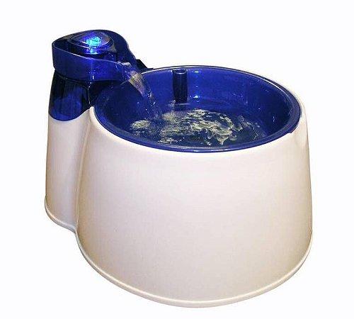 Fonte Bebedouro Automático Afp Azul Bivolt Para Cão E Gato