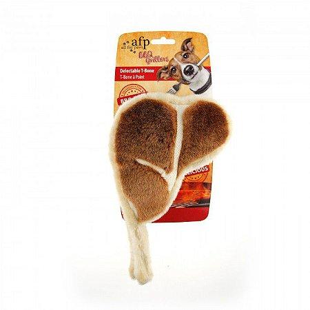 Brinquedo Pelúcia Afp Bisteca Para Cachorro - BBQ Churrasco