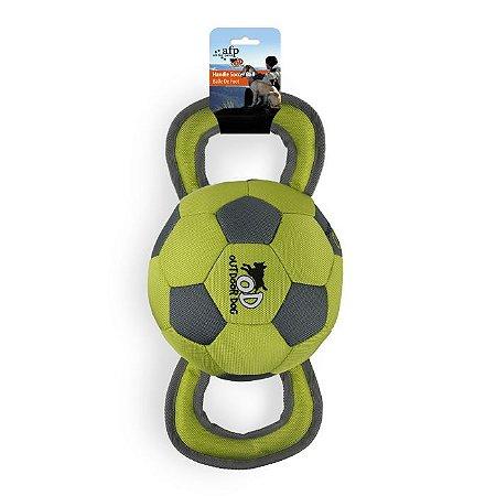 Brinquedo Bola de Futebol Com Alças Balístico Afp Para Cachorro - Outdoor