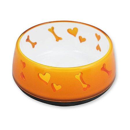 Comedouro Afp Puppy Love Bowl Para Cachorro - Laranja