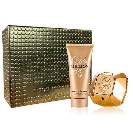 Kit Lady Million Perfume 80ml + Loção Corporal 100ml