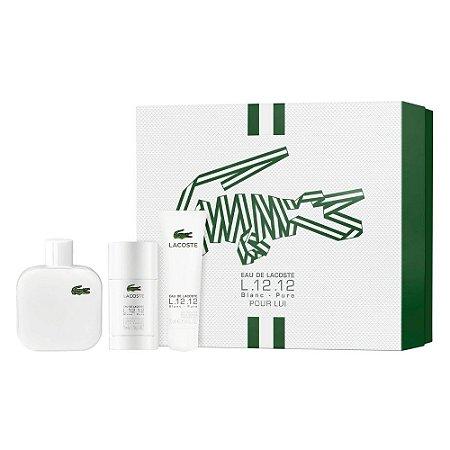 Kit Eau de Lacoste  L.12.12 Blanc - Pure Pour Lui EDT