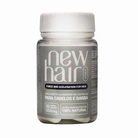 New Hair Caps Com 30 Capsulas Masculino Vitabe