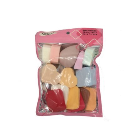 Kit Mini Esponjas Para Maquiagem Girls Secret PCT Com 16 Unidades