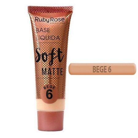 Base Liquida Soft Matte Bege 6 - Ruby Rose Hb 8050