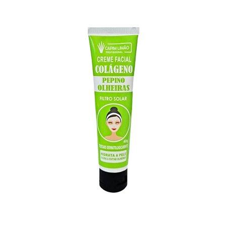 Creme Facial Pepino olheira - Capim Limão 40g