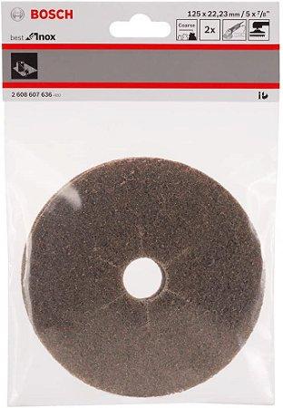 Disco manta abrasiva Best Inox 125 2un