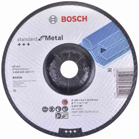 Disco de Desbaste para Metal 180mm Gr.24