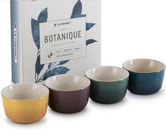 Set 4 Mini Ramekins Botanique