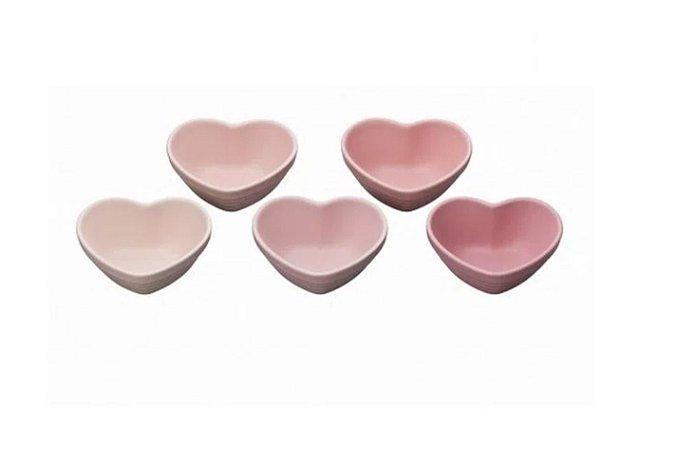 5 Mini heart bowl rosas