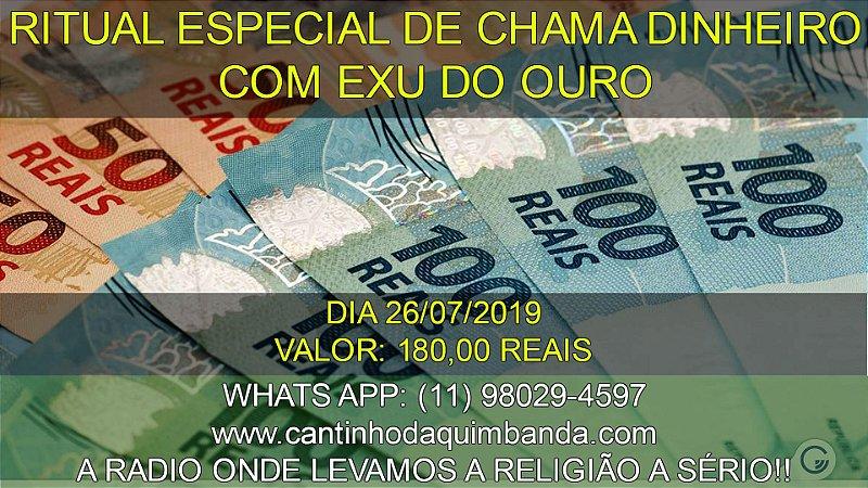 RITUAL ESPECIAL CHAMA DINHEIRO EXU DO OURO