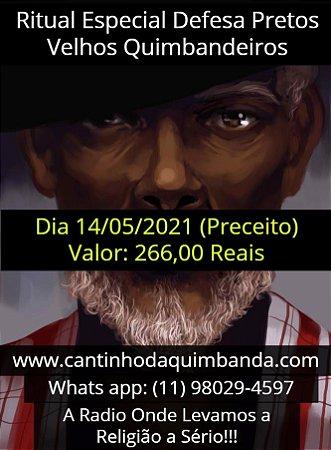 RITUAL ESPECIAL DE DEFESA COM OS PRETOS VELHOS QUIMBANDEIROS