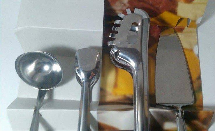 Kit Servir 4 peças em Inox