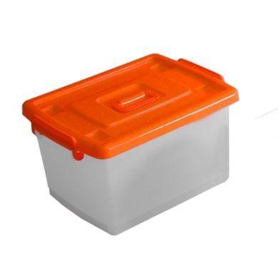 Caixa organizadora capacidade 22L - 24 unidades