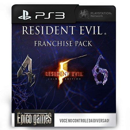 Resident Evil Franchise Pack - 4, 5 e 6 - PS3 - Midia Digital