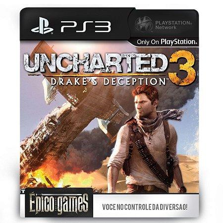 UNCHARTED 3 Drake's Deception - PS3 - Midia Digital