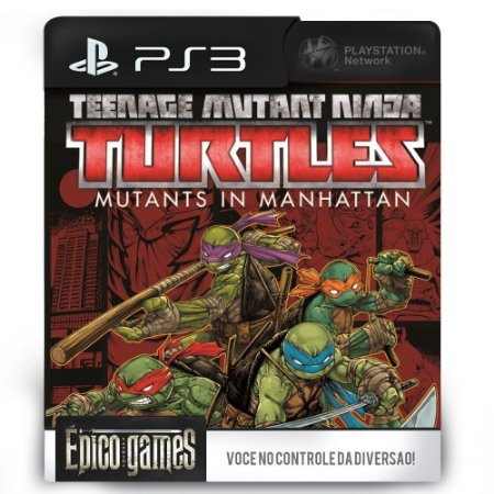Tartarugas Ninjas Mutantes em Manhattan - PS3 - Midia Digital