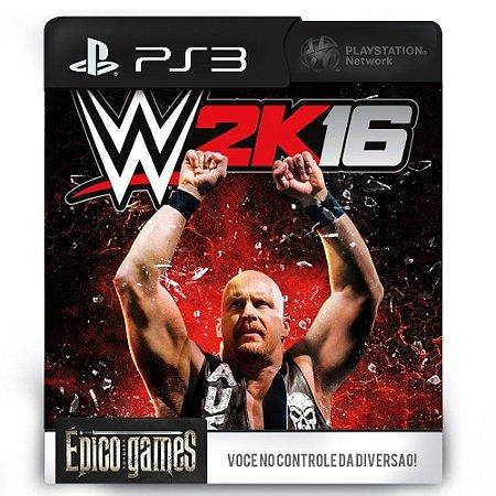 WWE 2K16 - PS3 - Midia Digital
